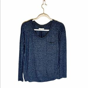 Anthropologie Pure + Good Soft Blue Knit Top